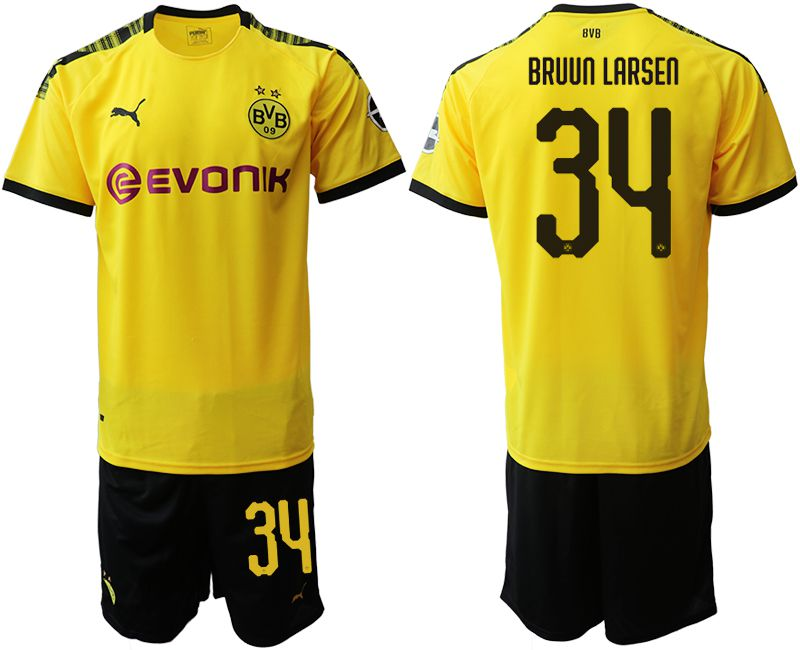 Men 2019-2020 club Dortmund home 34 yellow Soccer Jerseys