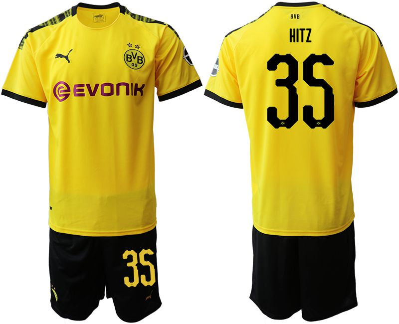 Men 2019-2020 club Dortmund home 35 yellow Soccer Jerseys