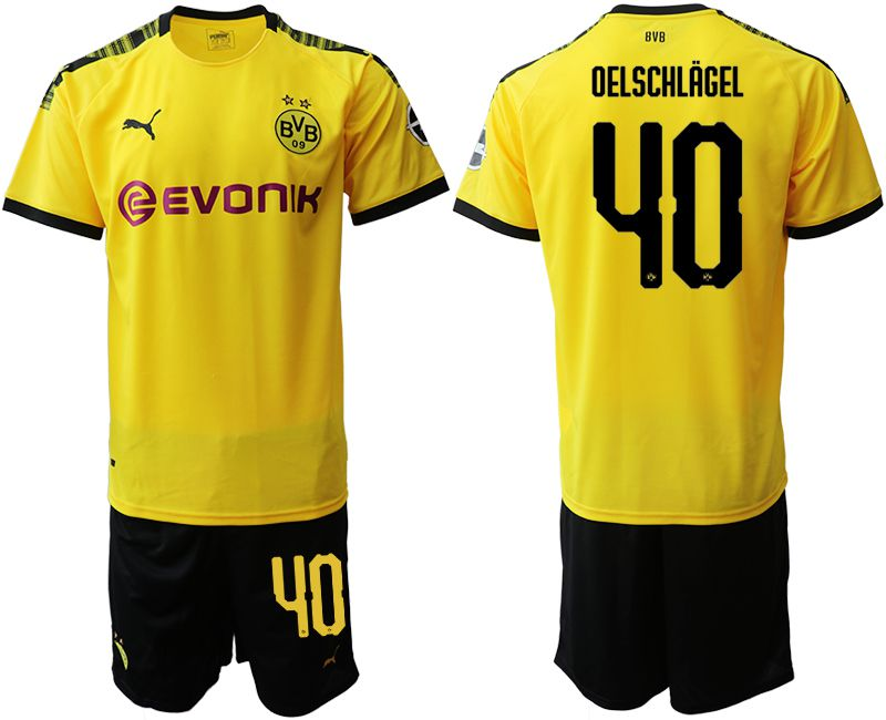 Men 2019-2020 club Dortmund home 40 yellow Soccer Jerseys