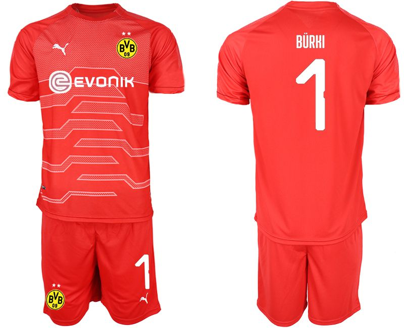 Men 2019-2020 club Dortmund red goalkeeper 1 Soccer Jerseys