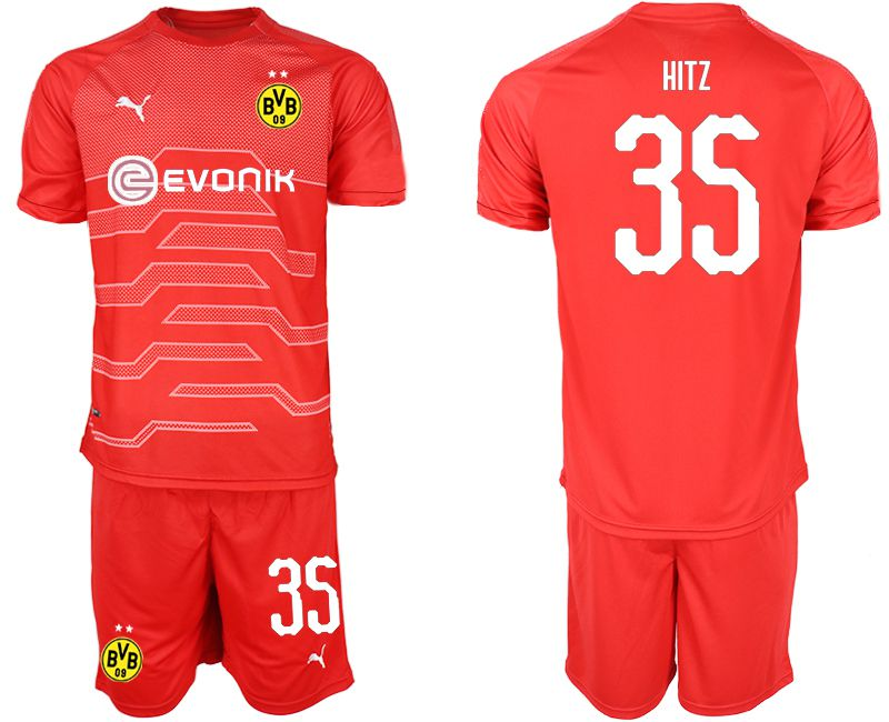 Men 2019-2020 club Dortmund red goalkeeper 35 Soccer Jerseys