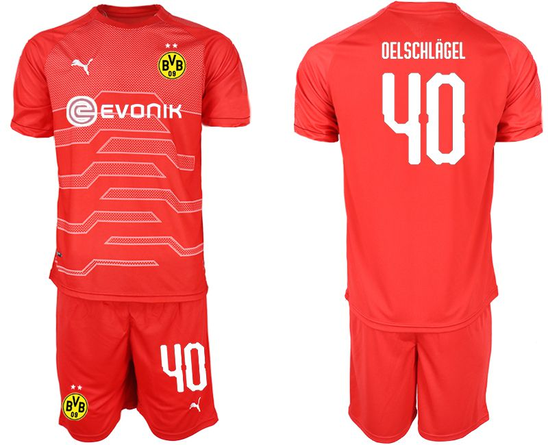 Men 2019-2020 club Dortmund red goalkeeper 40 Soccer Jerseys