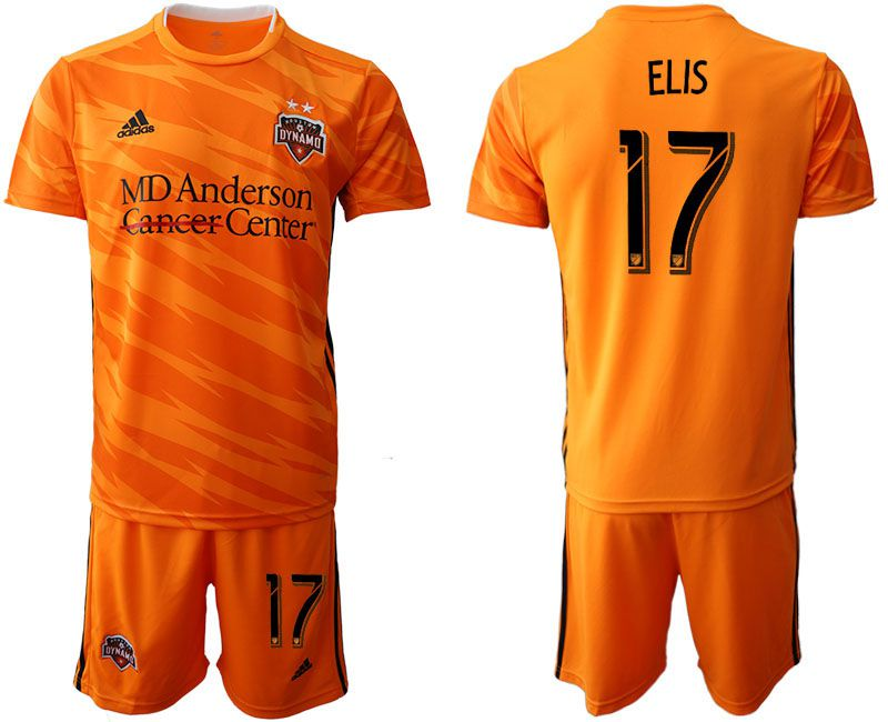 Men 2019-2020 club Houston Dynamo home 17 orange Soccer Jerseys