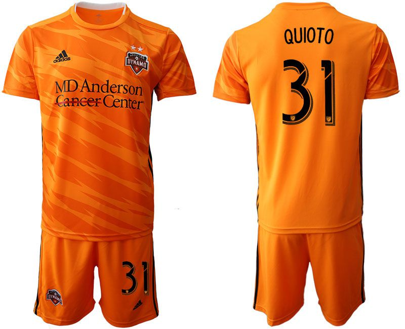 Men 2019-2020 club Houston Dynamo home 31 orange Soccer Jerseys