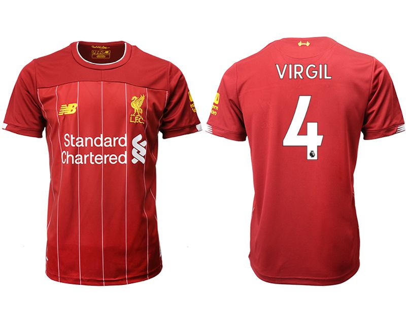 Men 2019-2020 club Liverpool home aaa version 4 red Soccer Jerseys