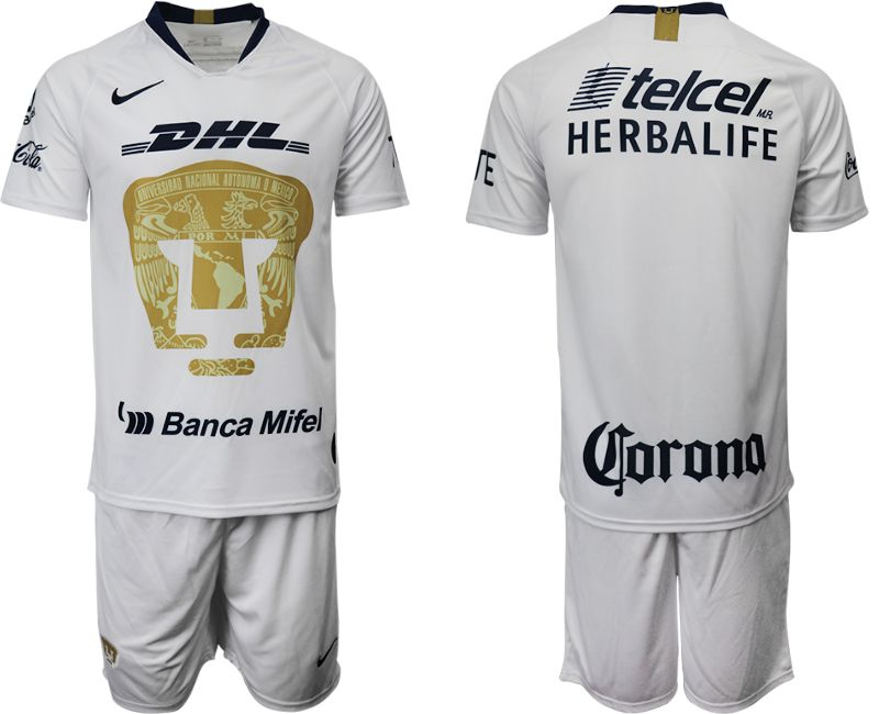 Men 2019-2020 club Pumas UNAM home white Soccer Jerseys