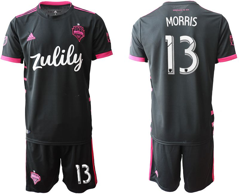 Men 2019-2020 club Seattle Sounders away 13 black Soccer Jerseys