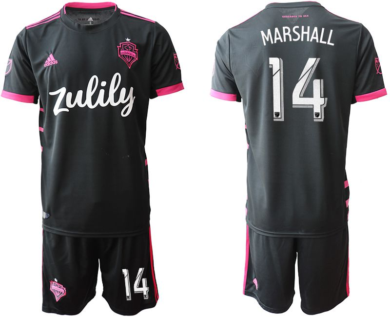 Men 2019-2020 club Seattle Sounders away 14 black Soccer Jerseys