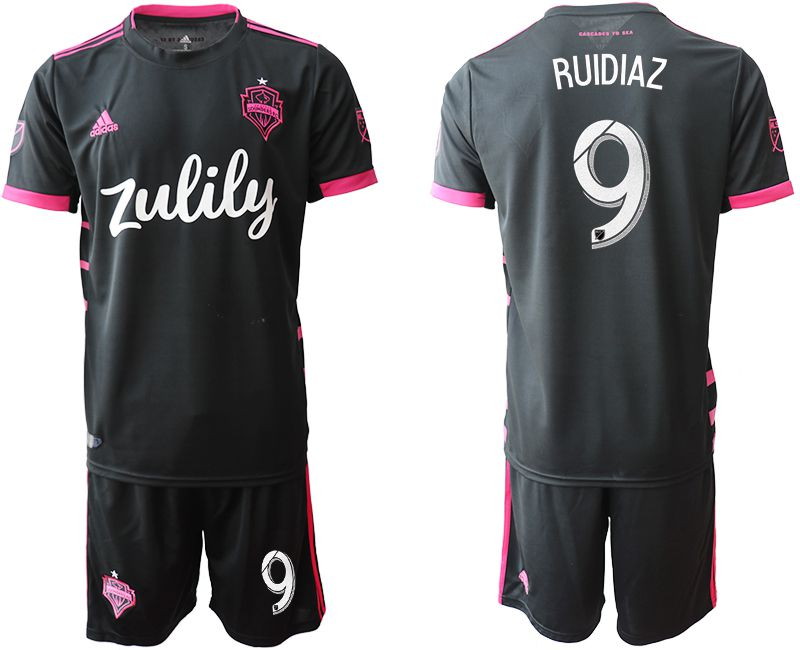 Men 2019-2020 club Seattle Sounders away 9 black Soccer Jerseys