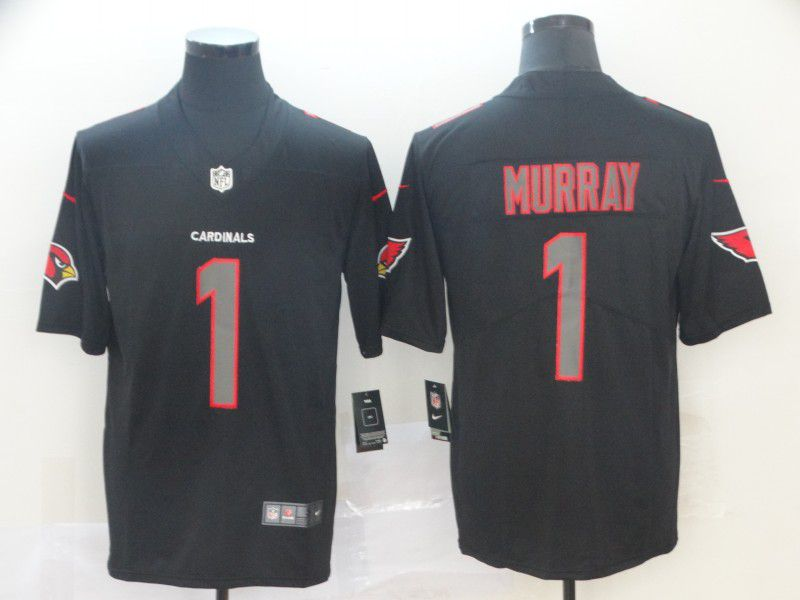 Men Arizona Cardinals 1 Murray Nike Fashion Impact Black Color Rush Limited NFL Jersey