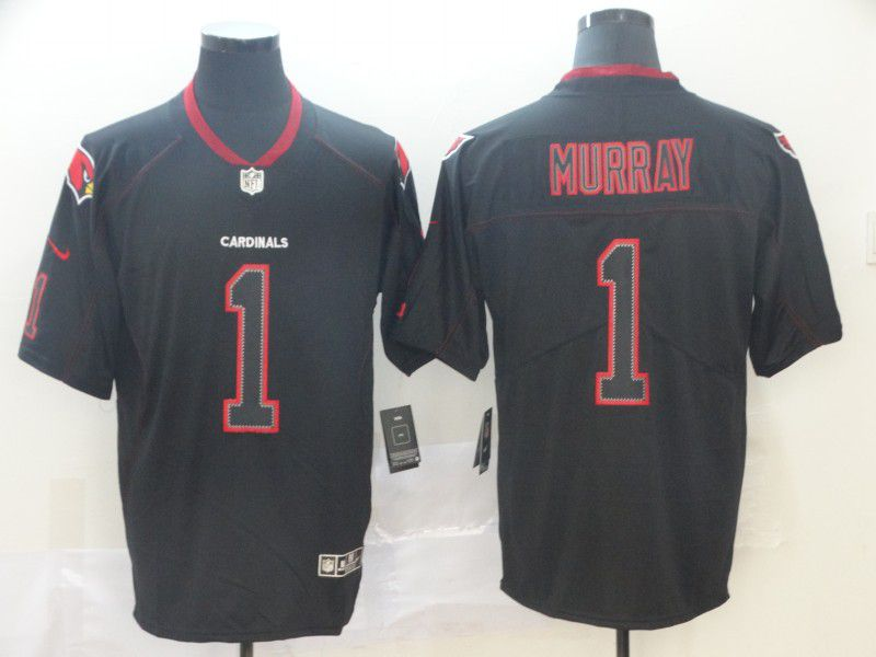 Men Arizona Cardinals 1 Murray Nike Lights Out Black Color Rush Limited NFL Jersey
