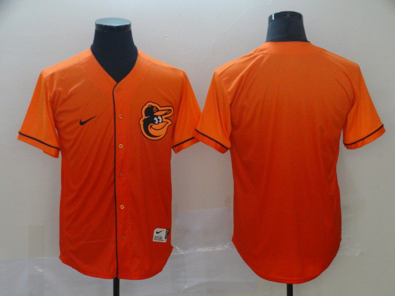 Men Baltimore Orioles Blank Orange Nike Fade MLB Jersey
