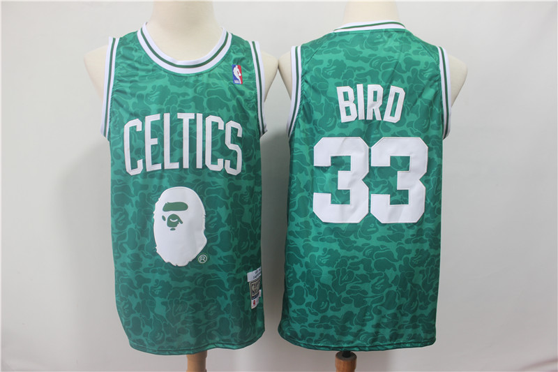 Men Boston Celtics 33 Bird Green Stitched NBA Jersey