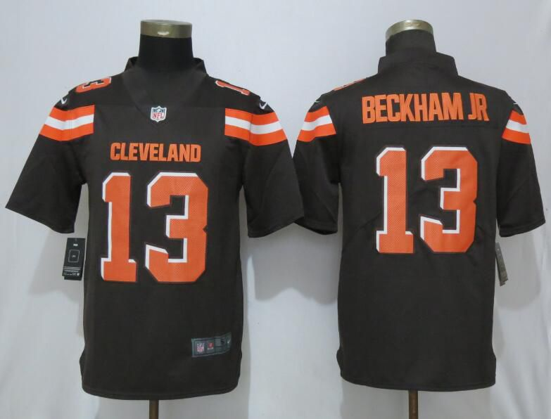 Men Cleveland Browns 13 Beckham jr Brown Nike Vapor Untouchable Limited Player NFL Jerseys