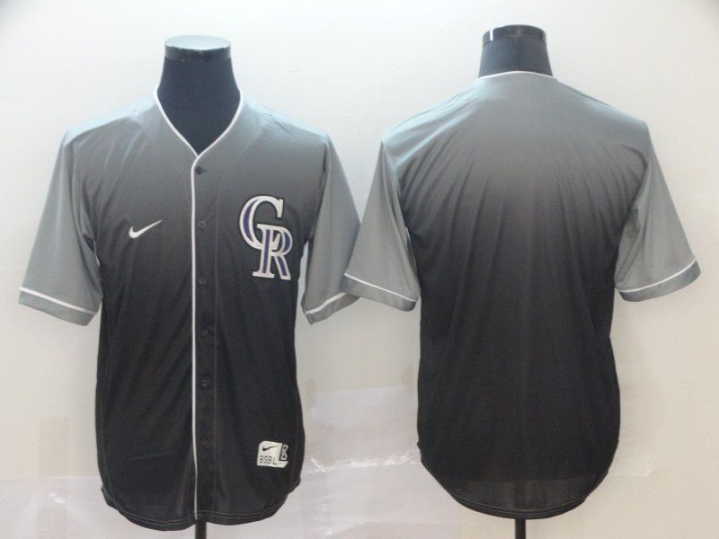 Men Colorado Rockies Blank Grey Nike Fade MLB Jersey