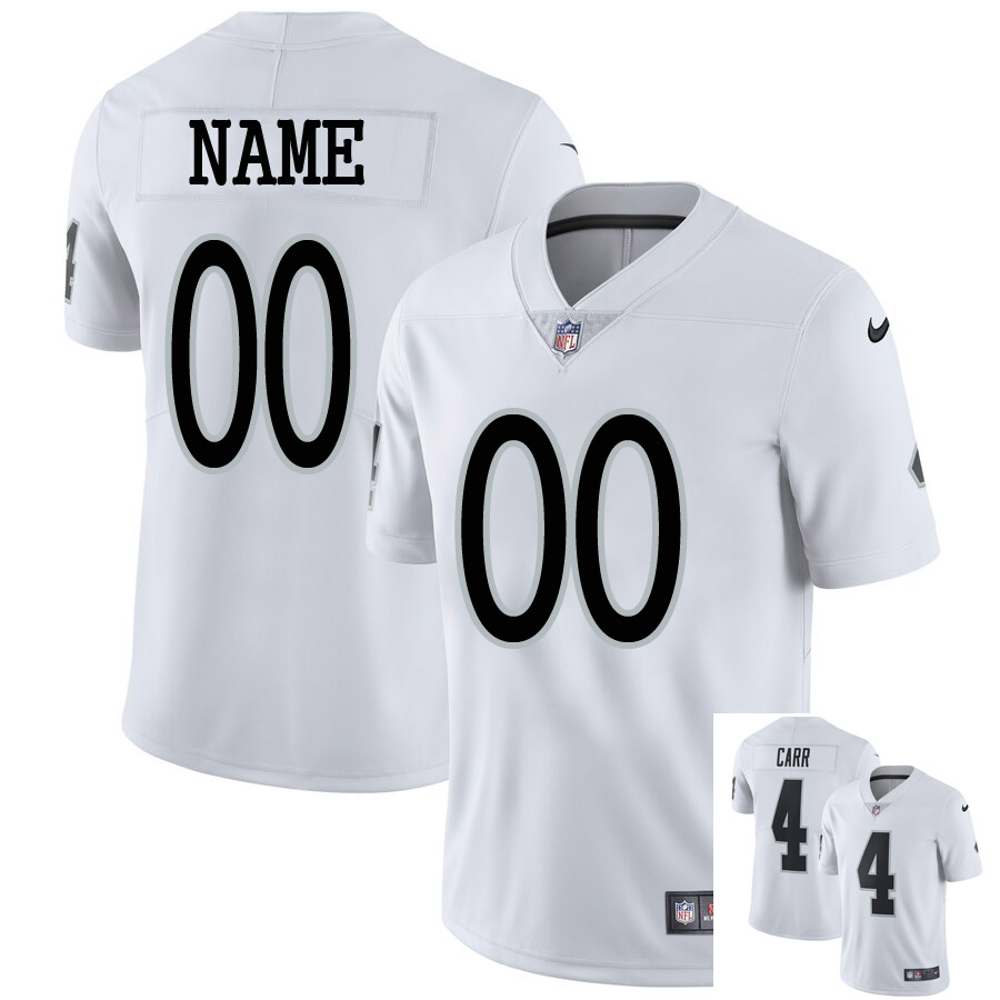 Men Customized Nike Oakland Raiders White Vapor Untouchable Limited Player Jersey1