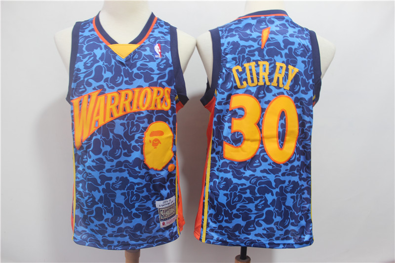 Men Golden State Warriors 30 Curry Blue Stitched NBA Jersey