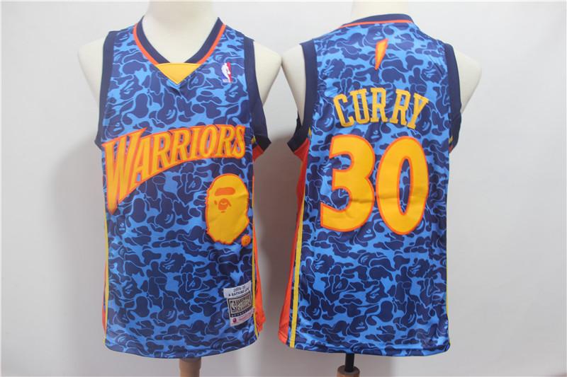 e982814b Men Golden State Warriors 30 Curry Blue Stitched NBA Jersey