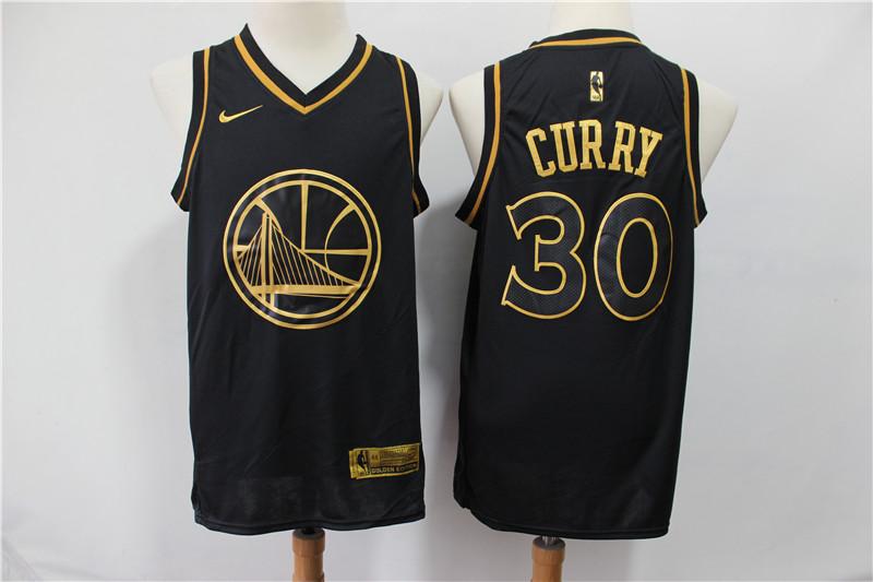acd0d65e Men Golden State Warriors 30 Curry black golden limited NBA Nike Jerseys