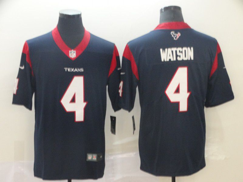 Men Houston Texans 4 Watson Blue Nike Vapor Untouchable Limited Player NFL Jerseys
