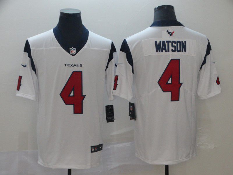 Men Houston Texans 4 Watson White Nike Vapor Untouchable Limited Player NFL Jerseys