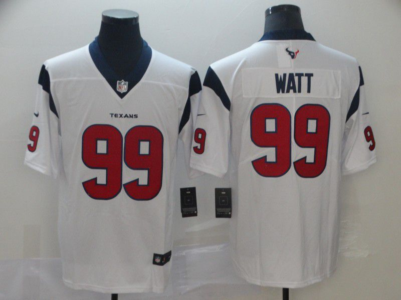 Men Houston Texans 99 Watt White Nike Vapor Untouchable Limited Player NFL Jerseys