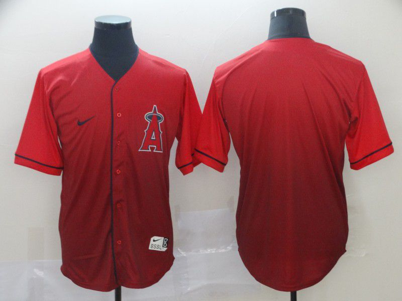 Men Los Angeles Angels Blank Red Nike Fade MLB Jersey