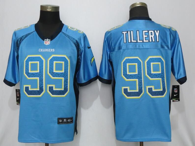 Men Los Angeles Chargers 99 Tillery Drift Fashion Blue Nike Limited NFL Jerseys