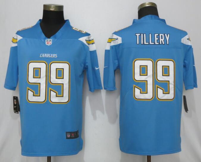 be6852221 Men Los Angeles Chargers 99 Tillery Light Blue Vapor Untouchable Playe Nike  Limited NFL Jerseys