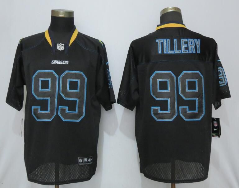 Men Los Angeles Chargers 99 Tillery Lights Out Black Nike Elite NFL Jerseys