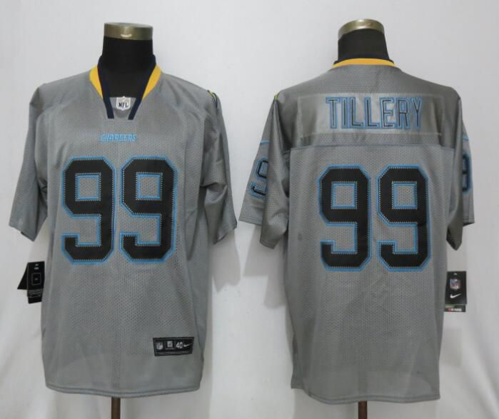 Men Los Angeles Chargers 99 Tillery Lights Out Grey Nike Elite NFL Jerseys