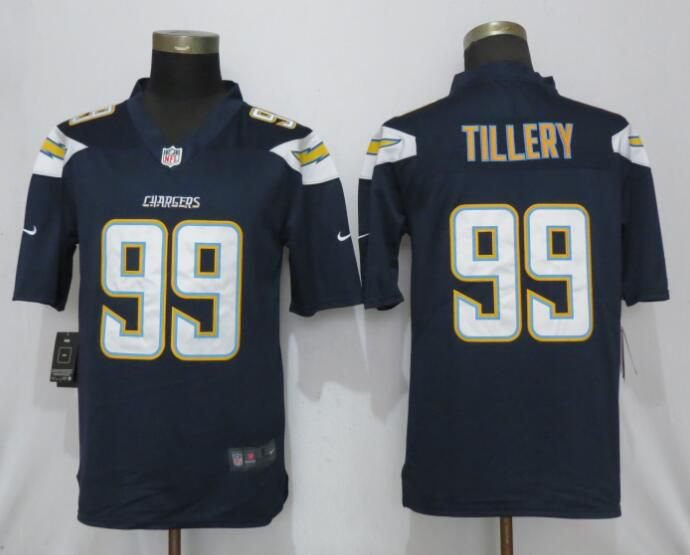 Men Los Angeles Chargers 99 Tillery Navy Blue Vapor Untouchable Playe Nike Limited NFL Jerseys