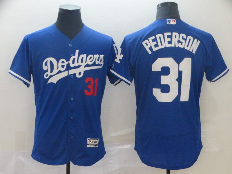 Men Los Angeles Dodgers 31 Pederson Blue Elite MLB Jersey