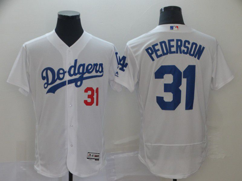Men Los Angeles Dodgers 31 Pederson White Elite MLB Jersey