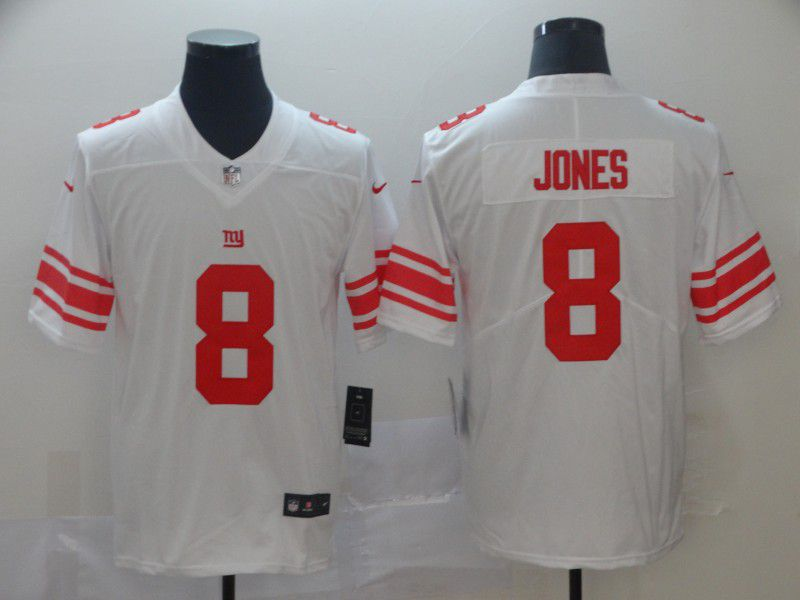 Men New York Giants 8 Jones White Nike Vapor Untouchable Limited NFL Jersey