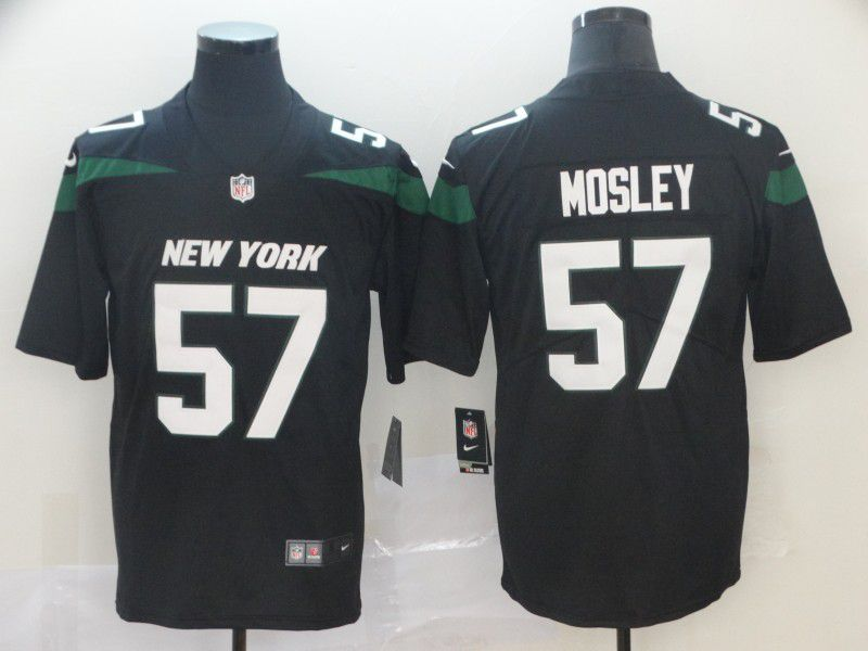 Men New York Jets 57 Mosley Black Nike Vapor Untouchable Limited NFL Jersey