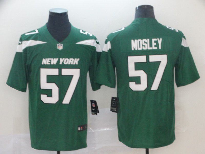 Men New York Jets 57 Mosley Green Nike Vapor Untouchable Limited NFL Jersey