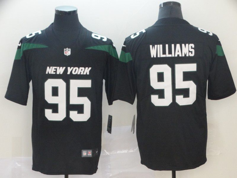 Men New York Jets 95 Williams Black Nike Vapor Untouchable Limited NFL Jersey