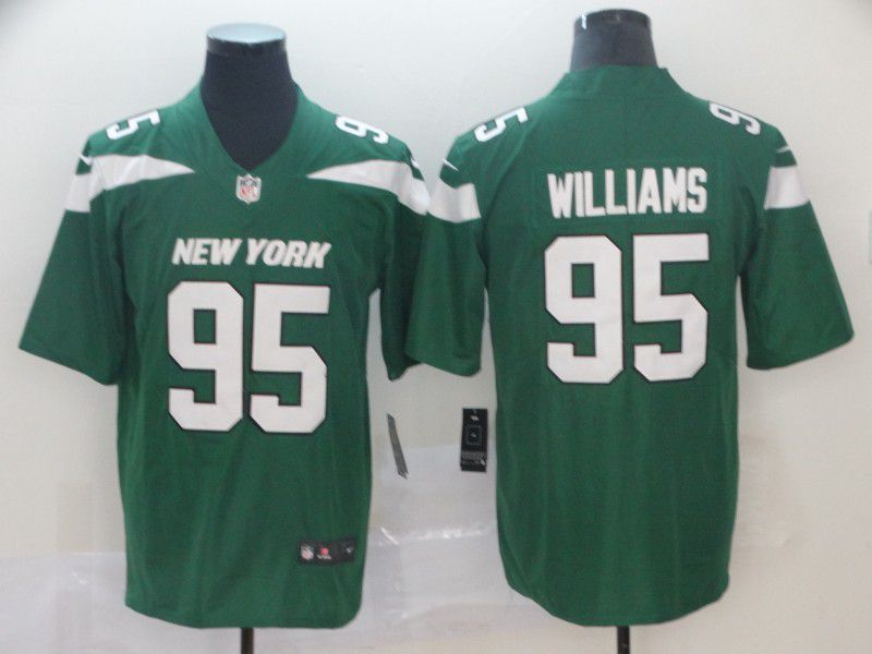 Men New York Jets 95 Williams Green Nike Vapor Untouchable Limited NFL Jersey