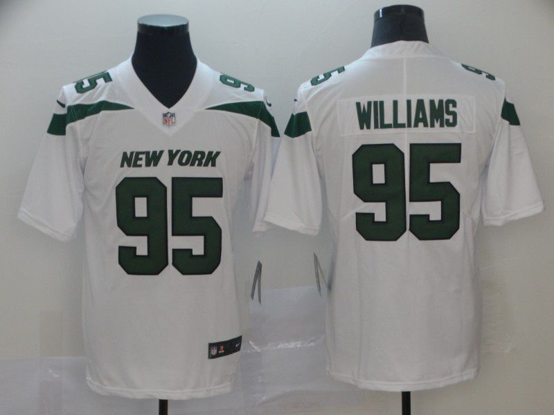 Men New York Jets 95 Williams White Nike Vapor Untouchable Limited NFL Jersey