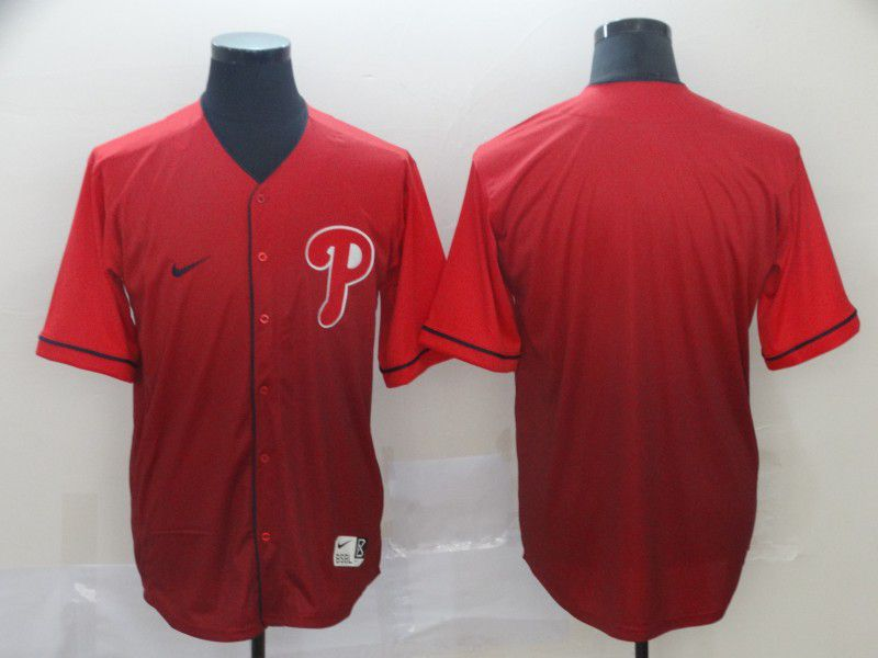 Men Philadelphia Phillies Blank Red Nike Fade MLB Jersey