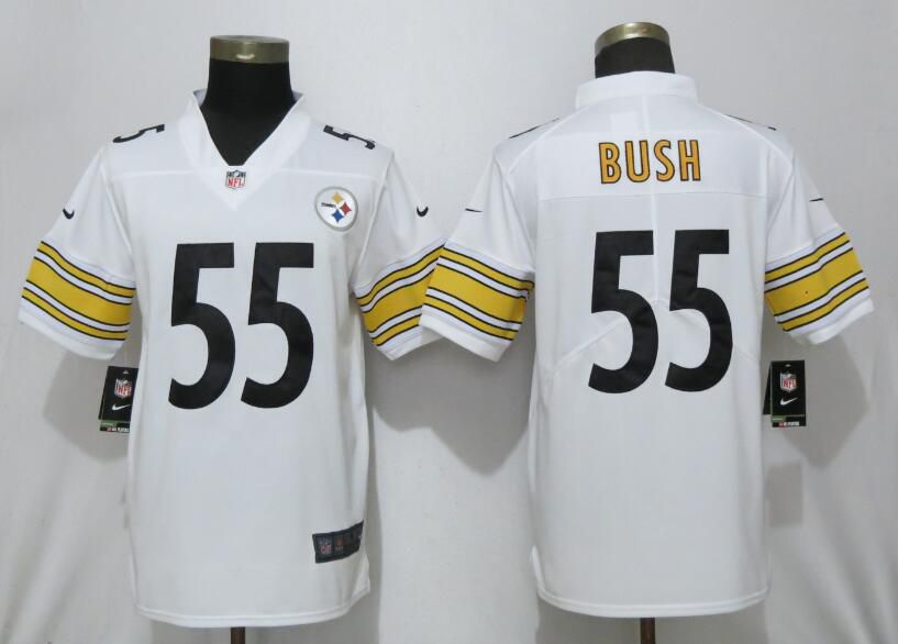 Men Pittsburgh Steelers 55 Bush White Nike Vapor Untouchable Player NFL Jerseys