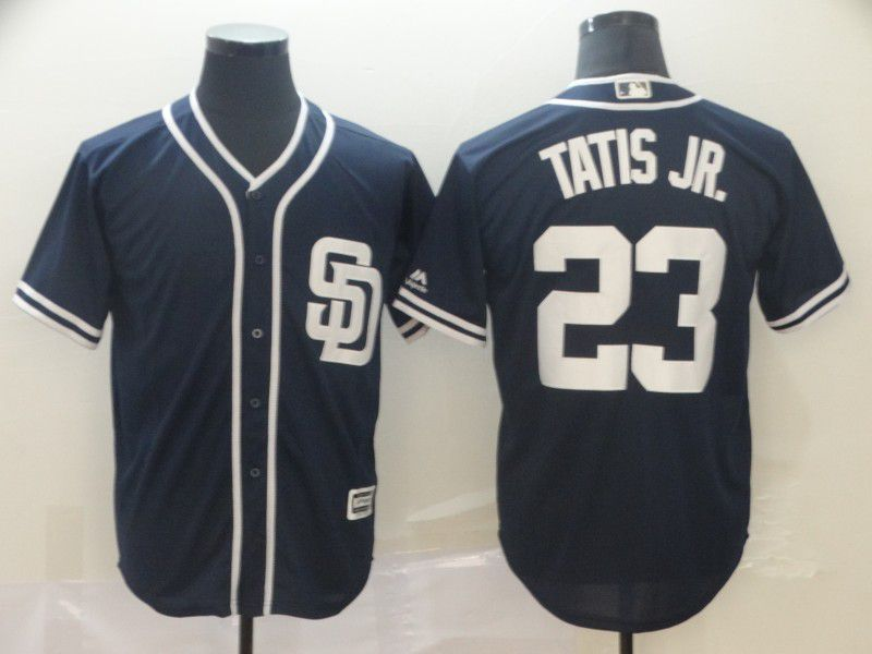 Men San Diego Padres 23 Tatis jr Blue Game MLB Jerseys
