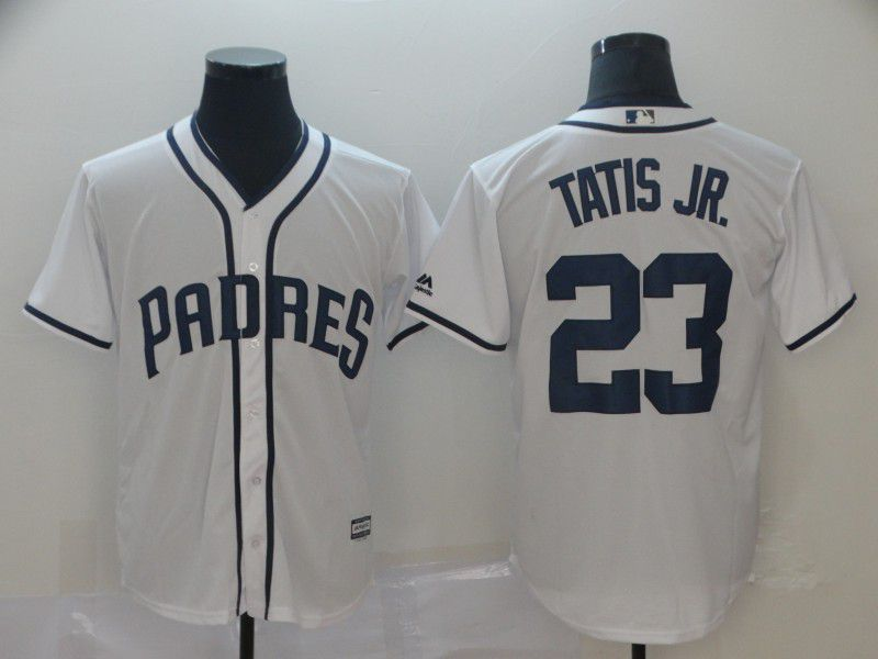 Men San Diego Padres 23 Tatis jr White Game MLB Jerseys