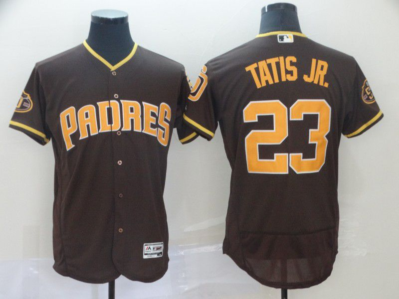 Men San Diego Padres 23 Tatis jr brown Elite MLB Jerseys