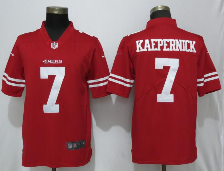Men San Francisco 49ers 7 Kaepernick Red Nike Vapor Untouchable Limited Player NFL Jerseys