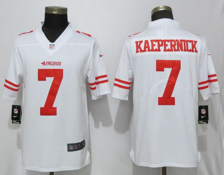 Men San Francisco 49ers 7 Kaepernick White Nike Vapor Untouchable Limited Player NFL Jerseys