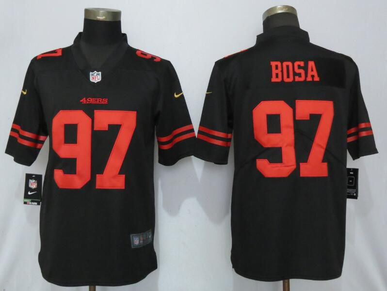 Men San Francisco 49ers 97 Bosa Black Nike Vapor Untouchable Limited Player NFL Jerseys