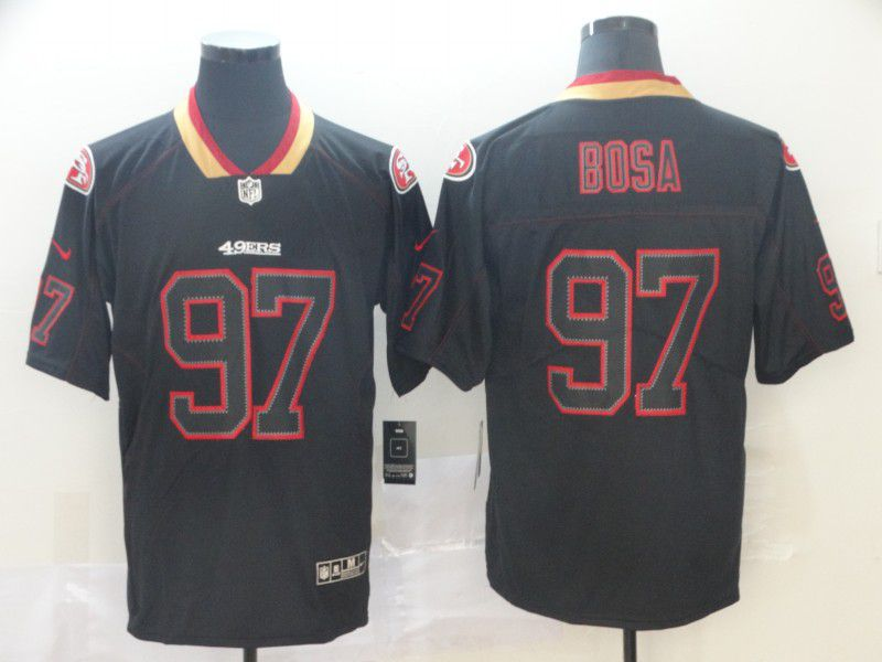 Men San Francisco 49ers 97 Bosa Nike Lights Out Black Color Rush Limited NFL Jersey