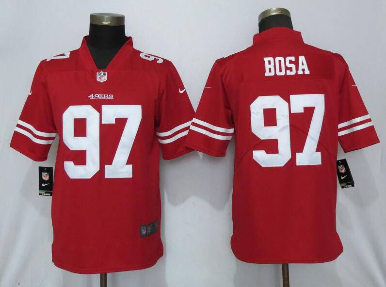 Men San Francisco 49ers 97 Bosa Red Nike Vapor Untouchable Limited Player NFL Jerseys